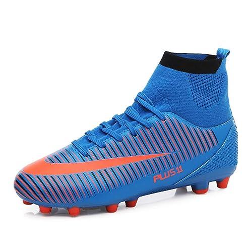 MAXTOP Zapatos de fútbol Hombre FG Spike Botas de fútbol de Caucho para Hombre Adulto Zapatos de Fútbol: Amazon.es: Zapatos y complementos