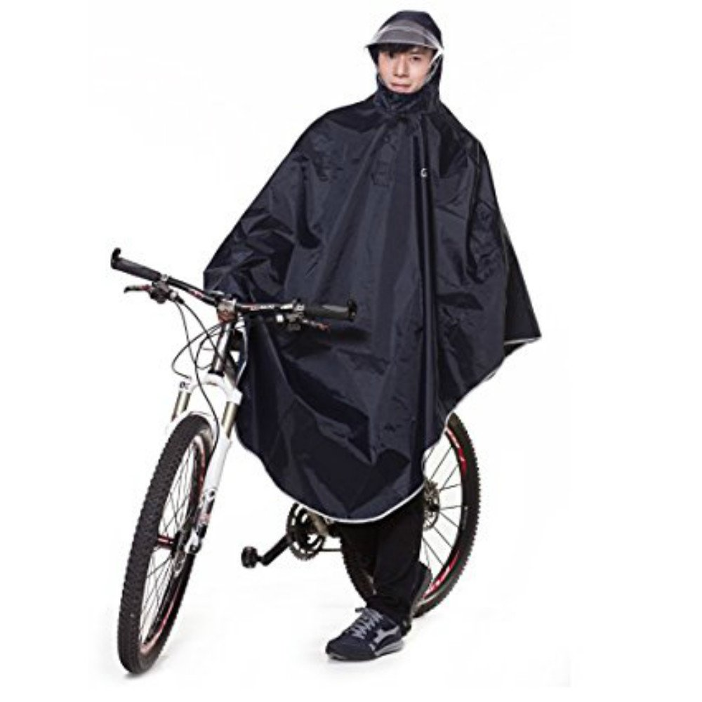 Tourwin Mantella Impermeabile Poncho Impermeabile,Giacche Impermeabile con Visiera,Giacche Resistenti allacqua,Giacche per Bicicletta Moto Motolino,Coperta Impermeabile per Moto