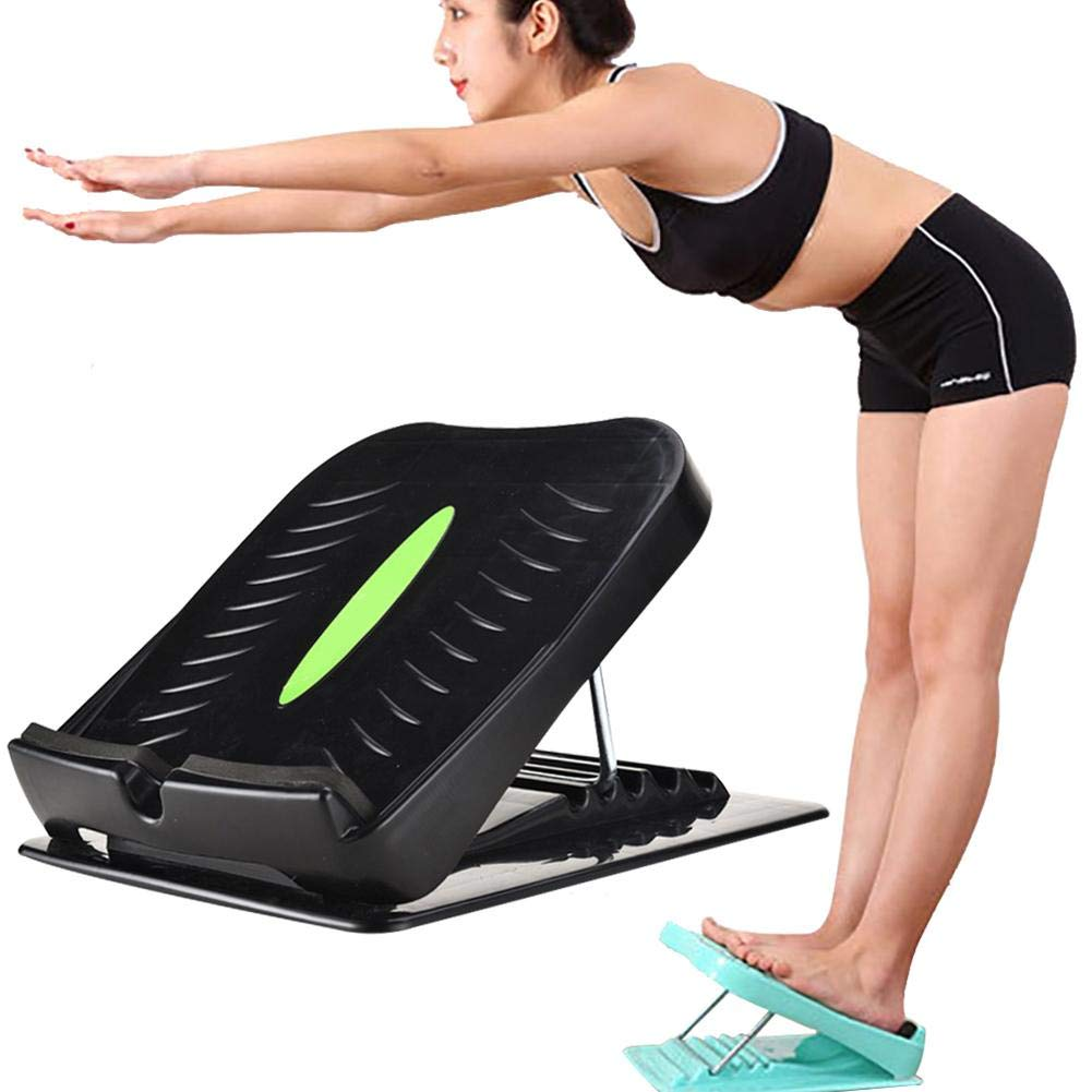 U-smile Ankle Stretching Board,Adjustable Incline Boards Calf Ankle Stretcher Plantar Fasciitis Slant Board Slant Foot Stretch Wedge Board for Hamstring Achilles Leg Muscle Exercise Plantar