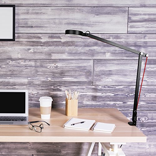 Aglaia Swing Arm Desk Lamp, 6.5W Architect Clamp On LED Lamp, Eye Protection for Home Office Studio (Black) by Aglaia (Image #4)