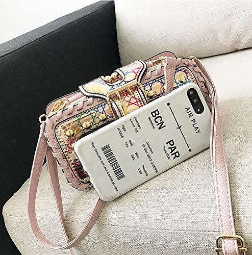 di forma a forma a GSHGA moda Borsa di a a piccola borsa quadrata spalla a Black borsa Borsetta tracolla tracolla EFwWqxw5Rz
