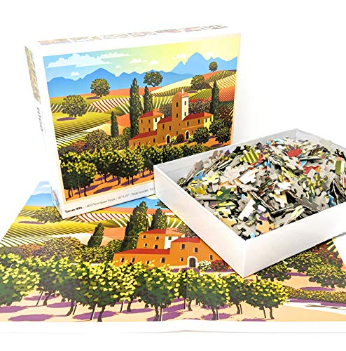 1000 Piece Puzzle for Adults: Tuscan Hills Jigsaw Puzzle