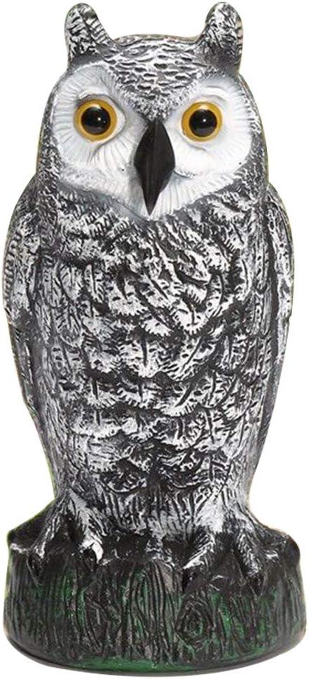 Alicer - Ahuyentador de pájaros, diseño de búho, accesorio de caza, cebo para plagas y roedores, para disuasorio/antimartas/antirreflejos, No cero., blanco, Tamaño libre