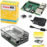CanaKit Raspberry Pi 3 Kit with Clear...