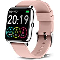 """Rinsmola 2021 Smart Watch for Android/iOS Phones, 1.4"""" Full Touch Screen Fitness Tracker for Women, Smartwatch with…"""