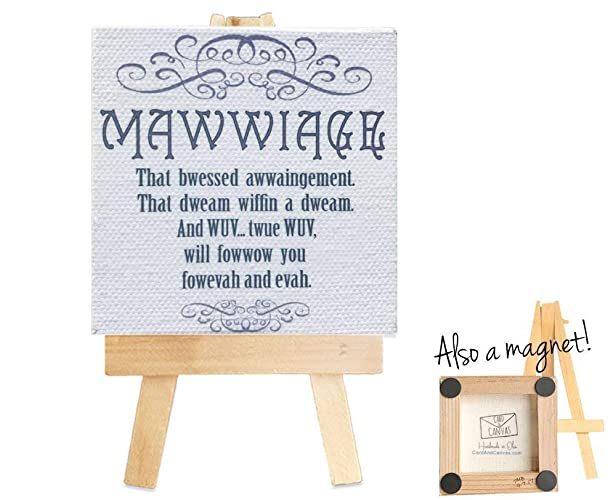 Amazoncom The Princess Bride Mawwiage Quote On A Mini Canvas With