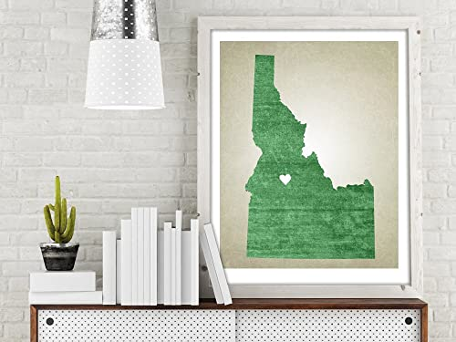 Amazon.com: Idaho | State Map Print, State Map Print, State ... on make your own dress, make your own family, make your own home, make your own save the date, make your own flowers, make your own cake,