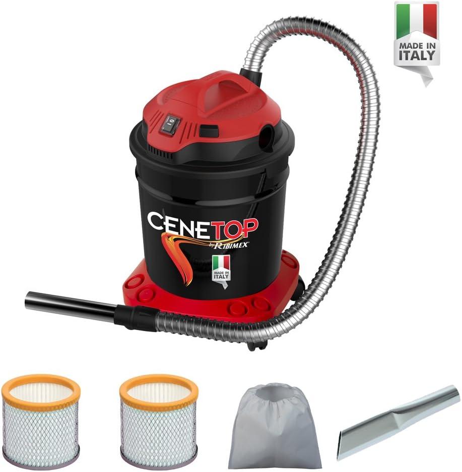 Aspirador para cenizas eléctrico Cenetop 1200 W – 18 L, con limpieza automática del filtro, con doble filtro, lanza plana: Amazon.es: Hogar