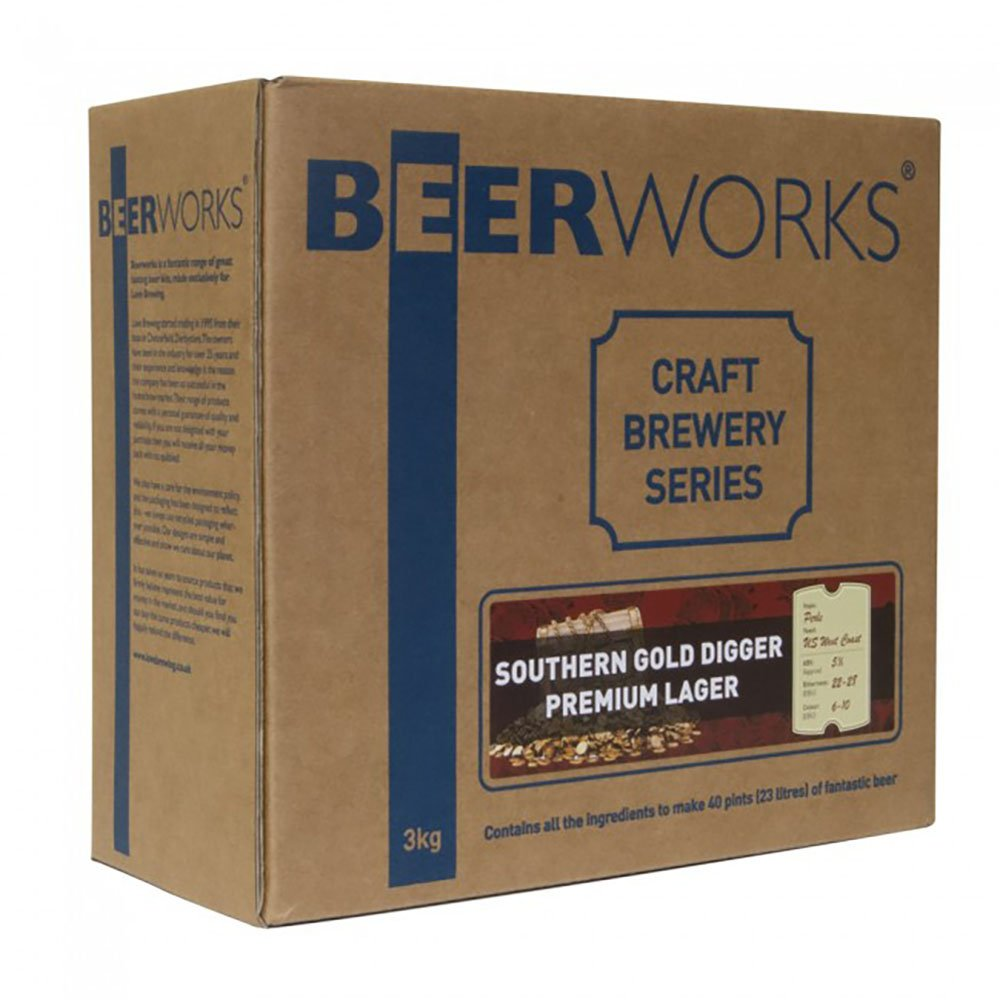 Beerworks Craft Brewery Series Southern Gold Digger Premium Lager - Home Brew Beer Kit