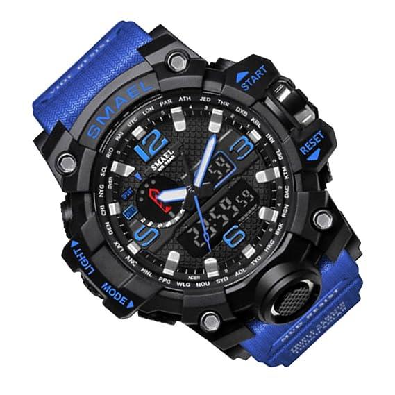 Rosepoem Relojes deportivos Relojes de los deportes al aire libre reloj multifuncional Reloj de cuarzo alarma