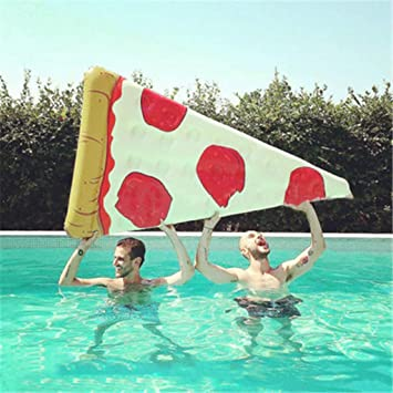 Hinchable Colchonetas Pizza Fila Flotante Gaint Piscina Colchón ...