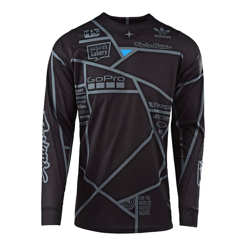 Troy Lee Designs Mens Off-Road Motocross Motorcycle SE Metric Jersey Black//White, Medium