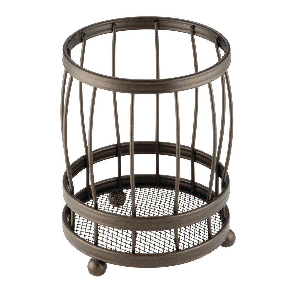InterDesign York Lyra Utensil, Spatula, Silverware Holder for Kitchen Countertop Storage – Bronze