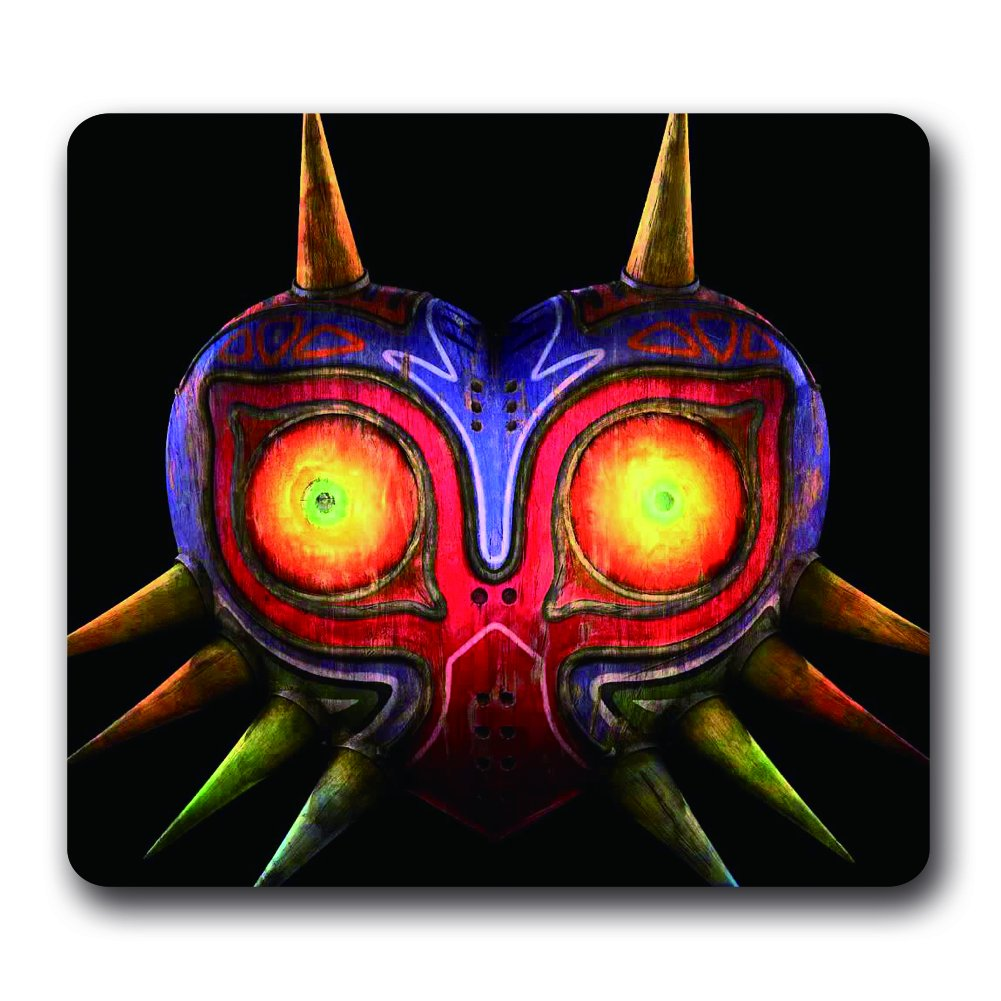 Jeu vidéo The Legend of Zelda en néoprène résistant à l'eau Gaming Mouse Pad, 25,4 x 22,9 x 0,5 cm Majora's Mask Art Lune color-9p1