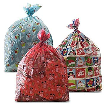 3 giant christmas gift bag 36 x 44 with gift tag made of - Large Christmas Gift Bags