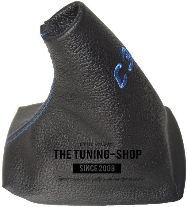 for Volvo C30 2006-13 Shift Boot with Plastic Frame Black Leather C30 White Embroidery