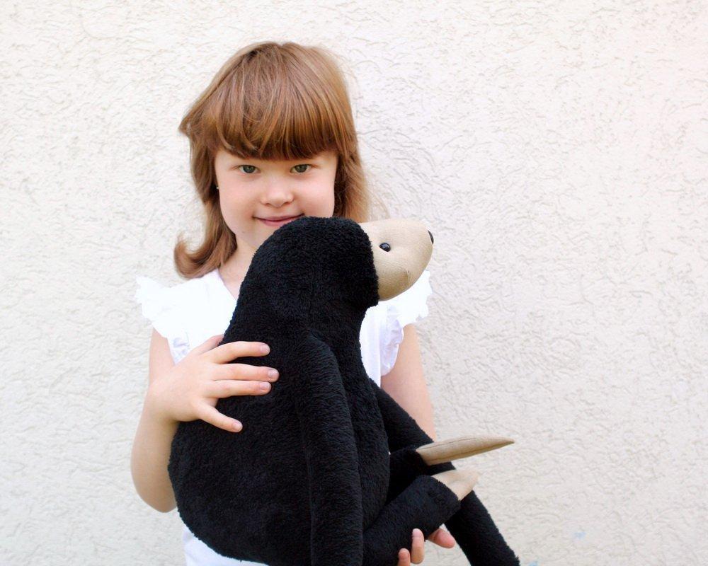 Medium size Plush Peanut Sloth stuffed cuddly toy