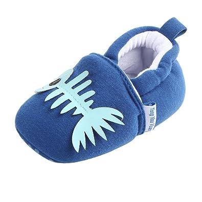 edb2eda6b9006 Bonjouree Chaussures Souples Antidérapant Premiers Pas pour Bébé Filles et  Garçons (11CM   3-