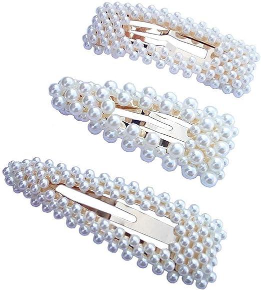 Pasadores de Pelo Horquillas Horquillas de Perlas Artificiales Nupcial de Boda Decorativa Pinzas para Cabello Hechas a Mano de Dama de Honor Accesorios para El Cabello Mujeres