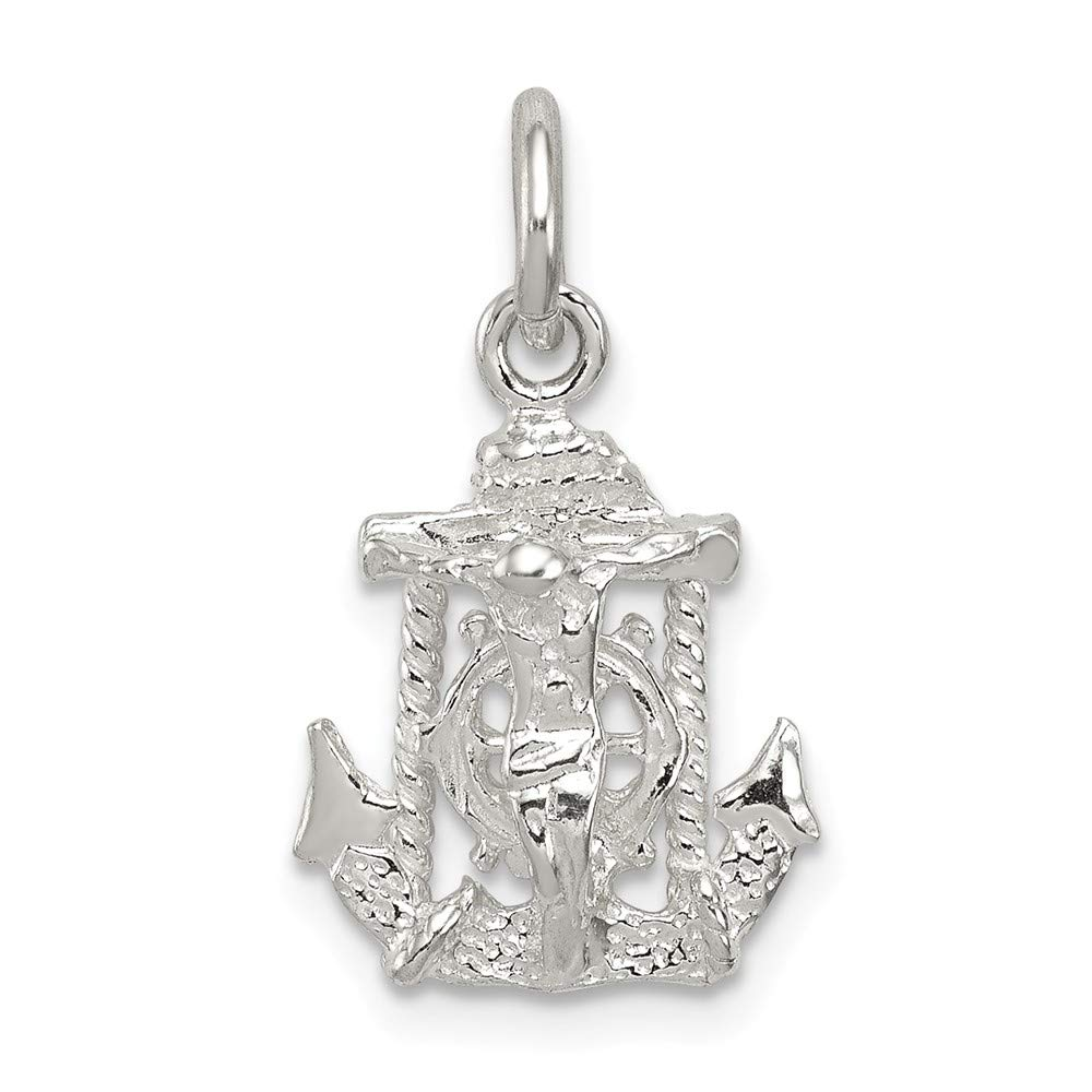 0.79 in x 0.43 in Jewel Tie Sterling Silver Mariners Cross Charm