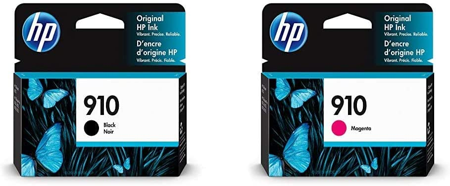 HP 910 | Ink Cartridge | Black | 3YL61AN & 910 | Ink Cartridge | Magenta | 3YL59AN