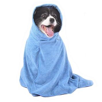 Winthome Albornoz de Baño Super Absorbente para Perro Secado Microfibra: Amazon.es: Productos para mascotas