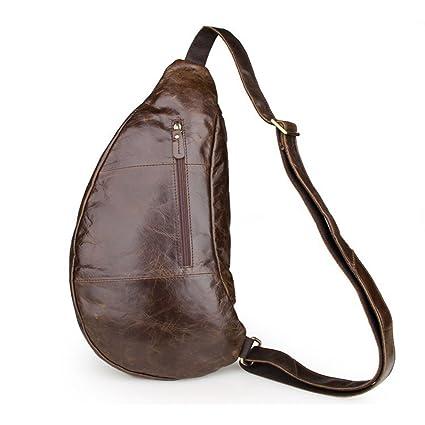 e336b6ab16 Image Unavailable. Image not available for. Color  Yangjiaxuan Genuine  Leather Leisure Men Chest Bag Shoulder Bags Crossbody ...