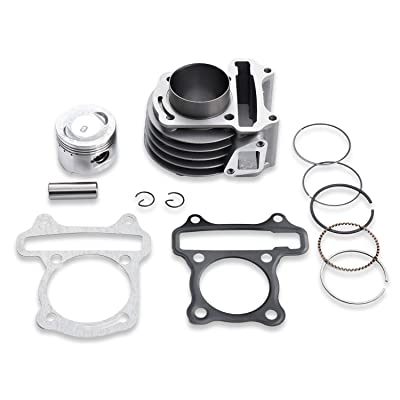 AH 50mm Big Bore Cylinder Kit With Piston Ring Pin For 4 Strokes GY6 100cc139QMA 139QMB Engine Chinese Scooter ATV Go Kart Taotao Baja Roketa: Automotive
