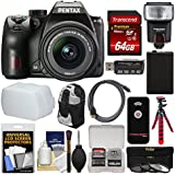 Pentax K-70 All Weather Wi-Fi Digital SLR Camera & 18-55mm AL WR Lens 64GB Card + Backpack + Flash + Diffuser + Battery + Tripod + Filters Kit
