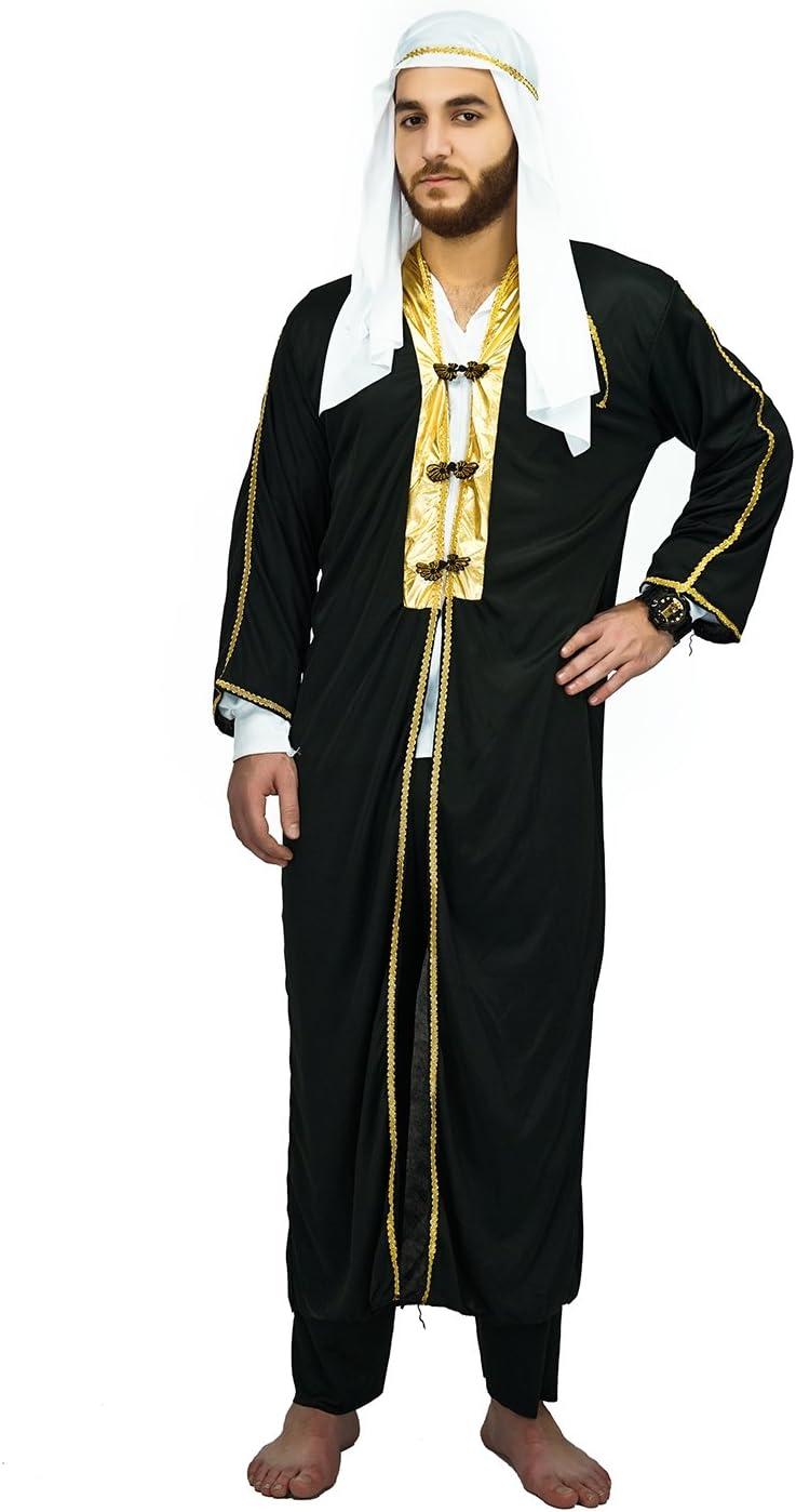 SEA HARE Disfraz de Jeque árabe del Príncipe árabe de los Hombres ...