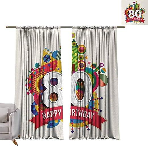DuckBaby - Cortina Estampada para Fiesta de cumpleaños 80 ...