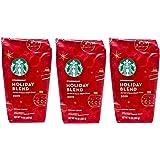 Starbucks Holiday Blend 2019 Ground Coffee - Pack of 3 Bags - 10 oz Per Bag - 100% Arabica Coffee - Medium Roast - Herbal & S