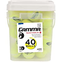 Gamma Bucket of Pressureless Tennis Balls - Sturdy, Reusable, and Portable Bucket Ideal for Practice, Training, and Teaching, 40 / 48 Count, Case of Balls for All Court Types, Premium Performance