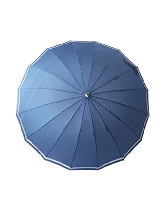 QIANNVSHEN Long Handle 16 Ribs Umbrella Business Sunny Rainy Women Men Paraguas Glass Fibre Parasol Travel