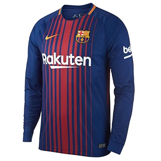 94955afaef6 Amazon.com  NIKE Men s FC Barcelona Long Sleeve 2018 Breathe Stadium Home Soccer  Jersey (Blue Red)  Sports   Outdoors