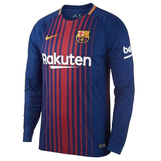 sale retailer 0e700 7ed0d Amazon.com: Nike 2017/18 FC Barcelona Home Long Sleeve ...