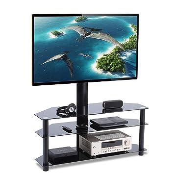 Rfiver Meuble Tv Avec Support Bracket Pivotant Hauteur Réglable Pour