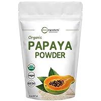 Micro Ingredients Organic Papaya Fruit Powder, 8 Ounce (227 Gram), Powerfully Supports...