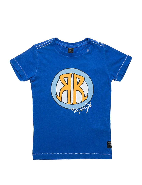 Replay Kids T-Shirt with Logo Print