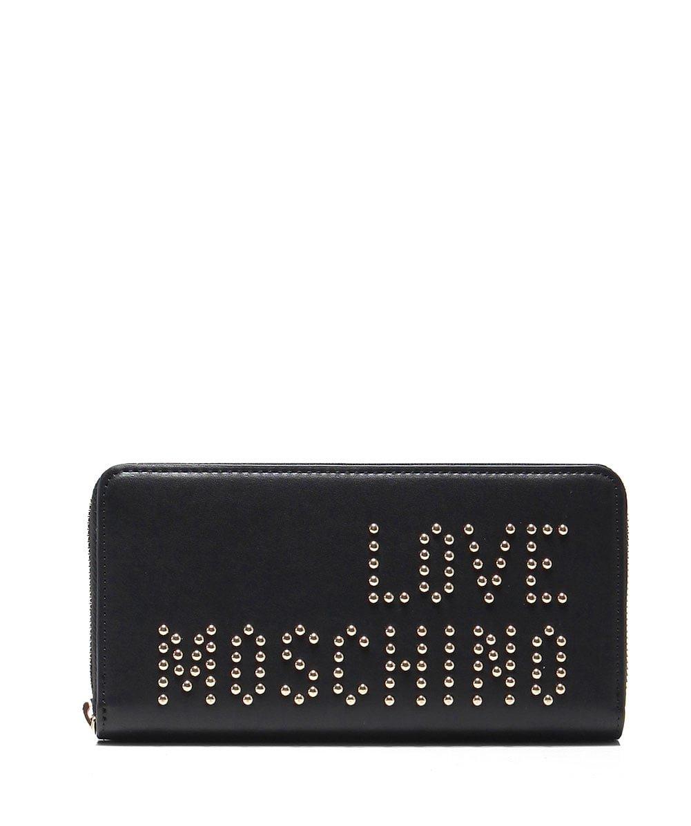 Moschino Love Moschino Women's Studded Zip-Around Purse Black One Size