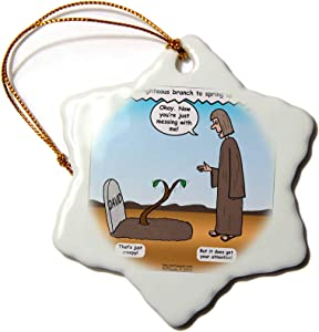 3dRose Jeremiah 33 14 16 Tales from The Crypt Bible Grave David Branch - Ornaments (ORN_19598_1)