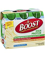 Boost High Protein Complete Nutritional Drink Very Vanilla , 48 FZ (Pack of 4)