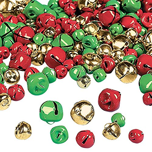 (Fun Express Christmas Jingle Bells | 2-Pack | 400 Total Count | Great for Christmas Parties, Holiday Celebrations, and Yuletide-Embellishments)