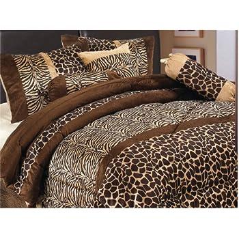 Amazon Com 5 Piece Twin Giraffe Animal Kingdom Bedding