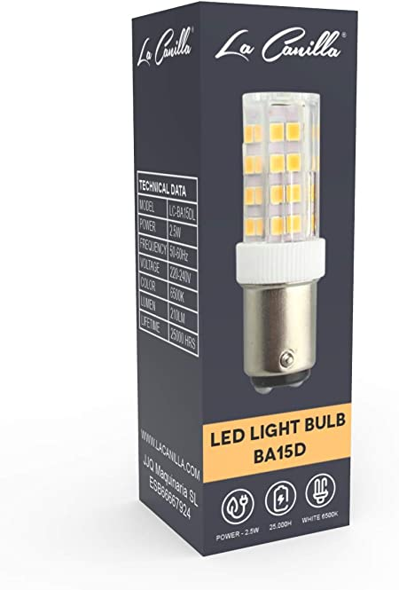 La Canilla ® - Bombilla LED Máquina de Coser Alfa, Singer, Sigma y ...