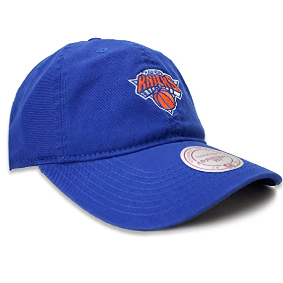 separation shoes 40393 031f9 ... real mitchell ness nba new york knicks adjustable strapback dad hat  396a0 d21b3
