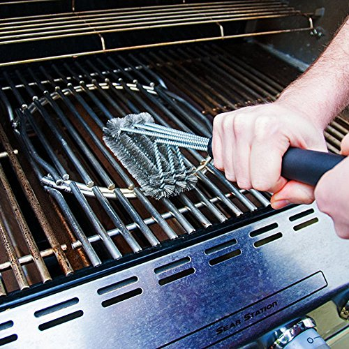parboo bbq grill brush cleaner ideal for cleaning char broil weber porcelain and infrared. Black Bedroom Furniture Sets. Home Design Ideas