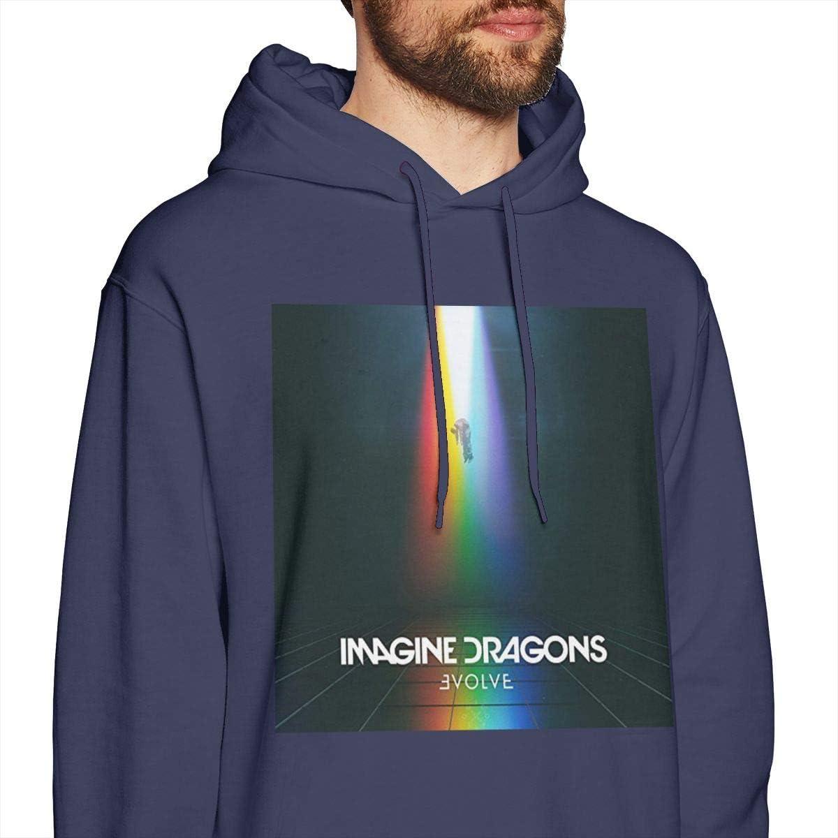 Mens Hooded Sweatshirt Imagine Dragons Personality Street Trend Creation Navy