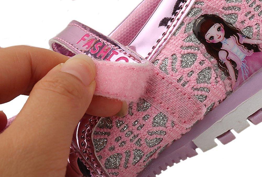 Genda 2Archer Girls Princess Light-up Mary Jane Flat Shoes Toddler//Little//Big Kid