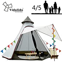Vidalido 12'x10'x8'Dome Camping Tent 4-5 Person 4 Season Double Layers Waterproof Anti-UV Windproof Tents Family Outdoor Camping Tent